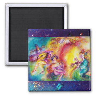 BURNING CARNIVAL 2 INCH SQUARE MAGNET