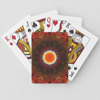 Burning Core Mandala Playing Cards