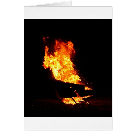 Burning couch card