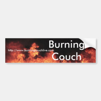 Burning Couch Flame Bumper Sticker