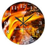 Burning Daylight Flames Clock