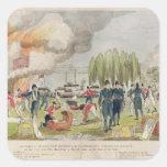 Burning de almirante Cockburn y el pillar Pegatinas