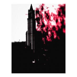 Burning de la ciudad plantillas de membrete