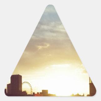 Burning de Londres Pegatina Triangular