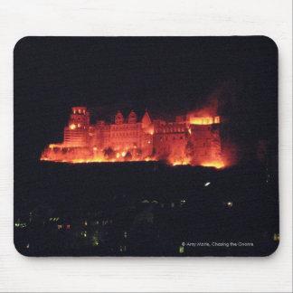 Burning del castillo de Heidelberg Tapete De Raton