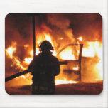 ¡Burning del fuego del vehículo! Mousepad Tapetes De Raton