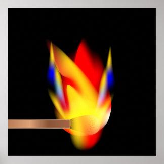 Burning del partido póster