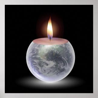 Burning Earth Print