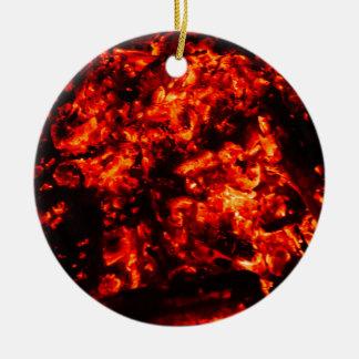 Burning Embers Photo Ceramic Ornament