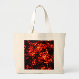 Burning Embers Photo Large Tote Bag