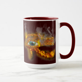 Burning Eye of Horus Ancient Egyptian Art Mug
