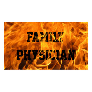 Burning Fire Family Physician Business Card