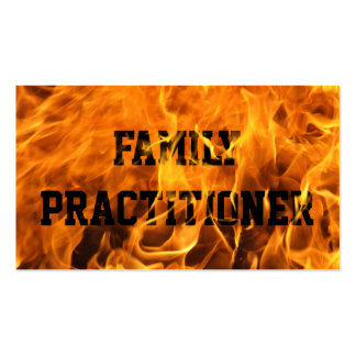 Burning Fire Family Practitioner Business Card