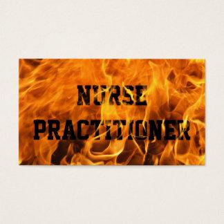 Burning Fire Nurse Practitioner Business Card