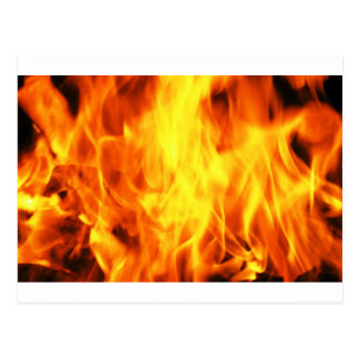 Burning Fire Postcard