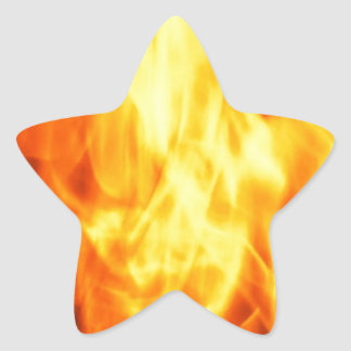Burning Fire Star Sticker