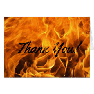 Burning Fire Thank You Card