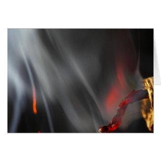 Burning Firecracker Card