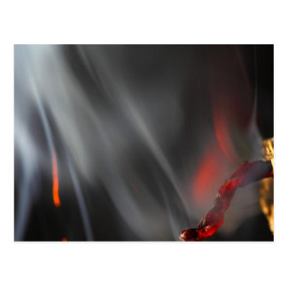 Burning Firecracker Postcard