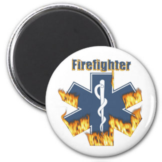 Burning Firefighter magnet