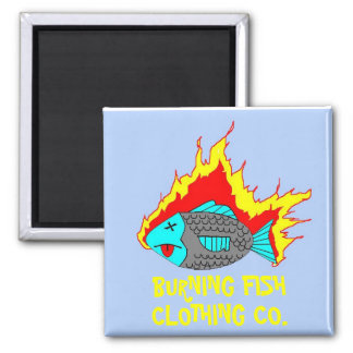 BURNING FISH LOGO MAGNET