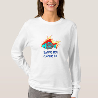 BURNING FISH LOGO T-Shirt