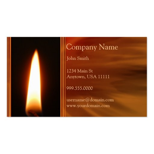 Candle business card templates page2 bizcardstudio burning flame business card colourmoves
