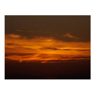 Burning Flame Sunset Postcard