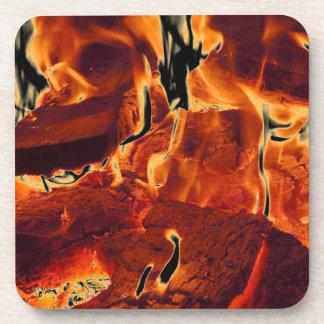 Burning Flames Coaster Set