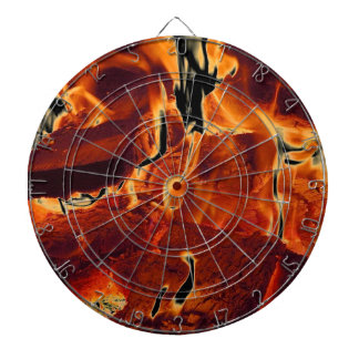 Burning Flames Dart Board