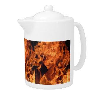 Burning Flames Fiery Hot Medium-size Tea-Pot Teapot