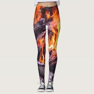 Burning flames leggings