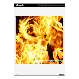 Burning Flames Playstation 3 Skin Decals For The PS3 Slim