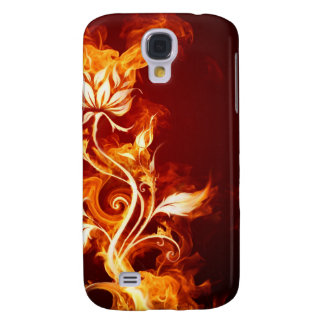 Burning flower galaxy s4 cover
