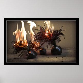 Burning Flowers Poster