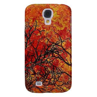 burning galaxy s4 case