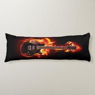 Burning Guitar Body Pillow