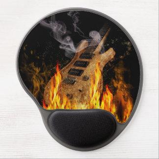 Burning Guitar Gel Mouse Pad