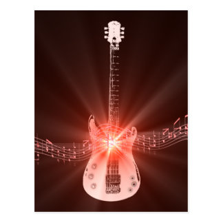 Burning Guitar Postcard