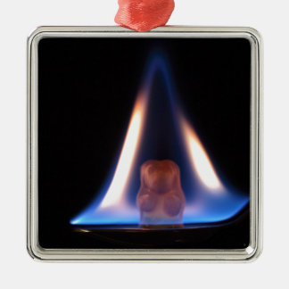 Burning Gummi Bear Metal Ornament