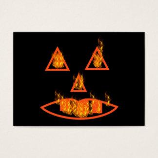 Burning Halloween Pumpkin Business Card