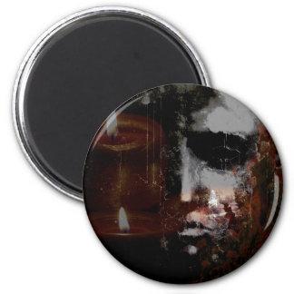 Burning Head Large Round Magnet