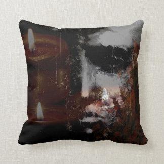 Burning Head Square Cotton Pillow