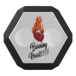 """BURNING HEART "" BLACK BLUETOOTH SPEAKER"