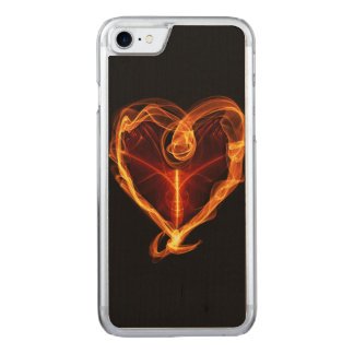 Burning Heart Carved iPhone 8/7 Case