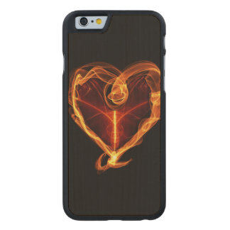 Burning Heart Carved Maple iPhone 6 Case