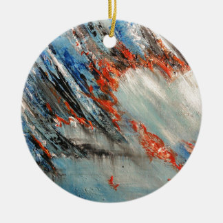 Burning Heart for Passion and Love abstract art Ceramic Ornament