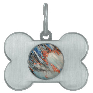 Burning Heart for Passion and Love abstract art Pet ID Tag