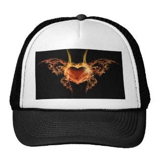 Burning Heart Trucker Hats
