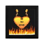 Burning Heart Jewelry Box